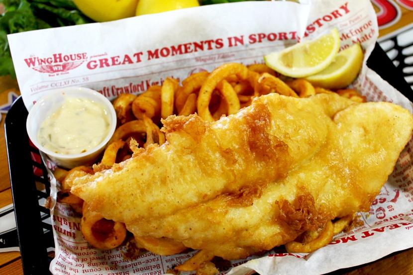 lemon pepper fried white fish and chips