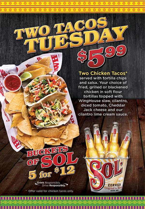 $5.99 for 2 Chicken Tacos Poster