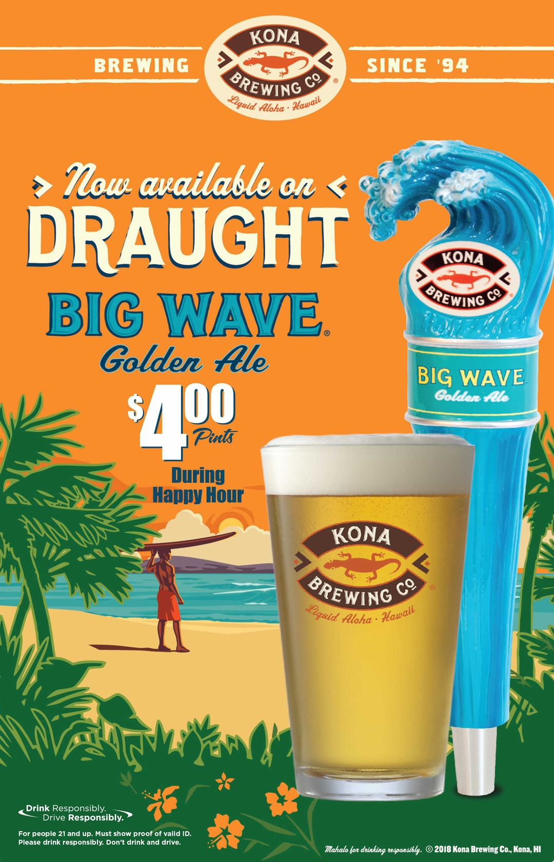 $4 Big Wave Golden Ale Pints during Happy Hour