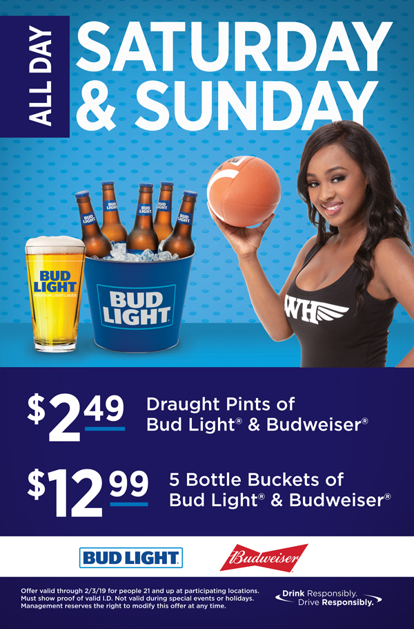 WingHouse Football Beer Specials Promotion