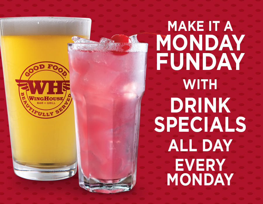 WingHouse Monday Football Drink Specials Promotion