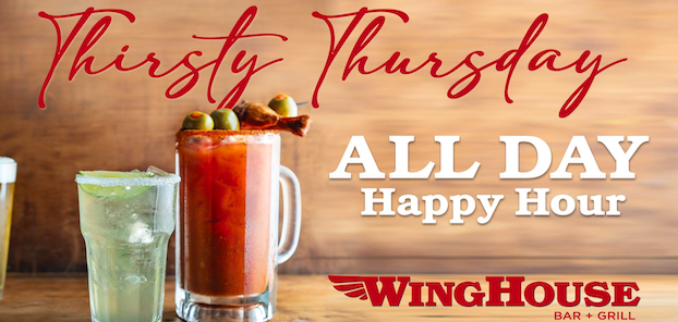 Thirsty Thursday - happy hour all day