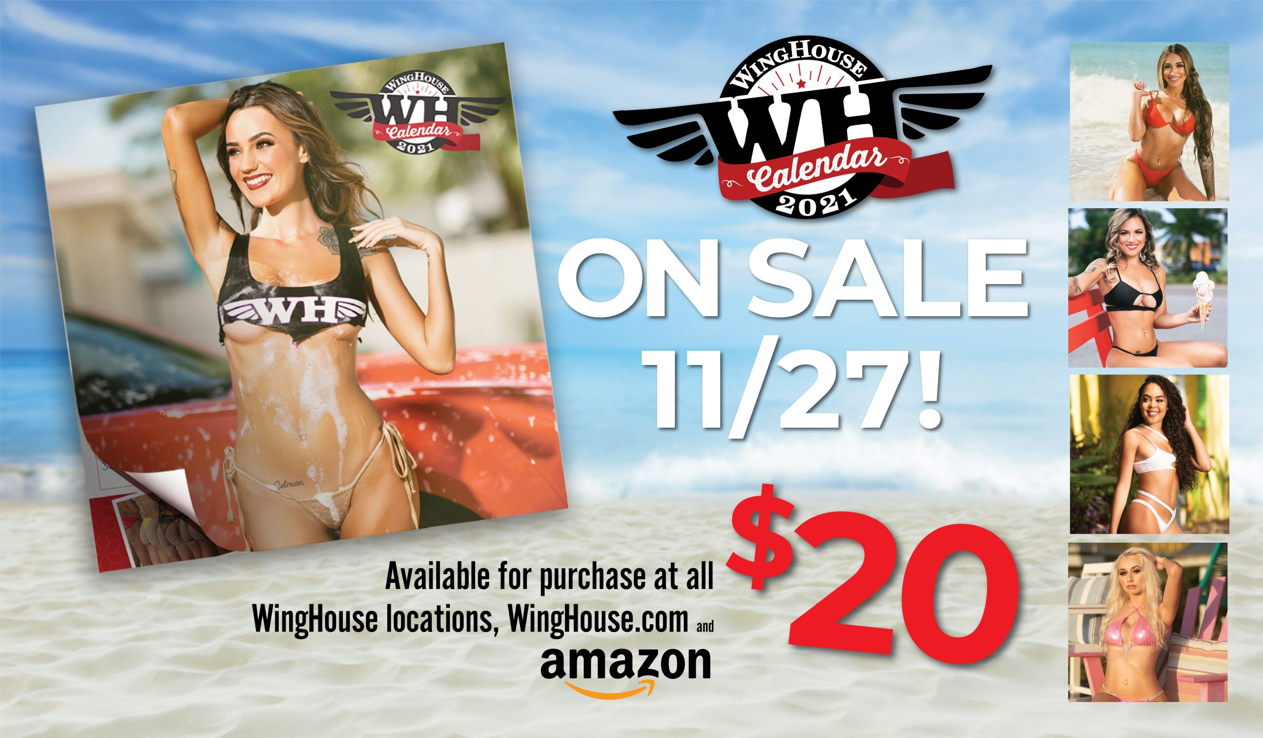 Winghouse Girls 2021 Calendar on sale now $20