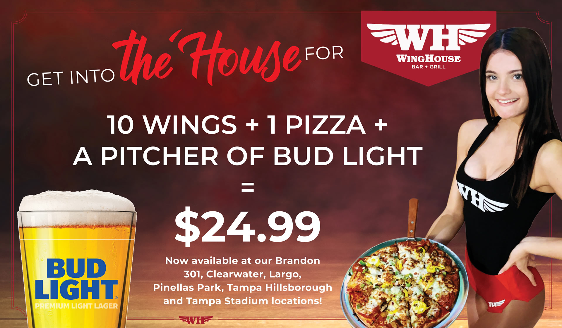 Pizza & Wing Special for $24.99