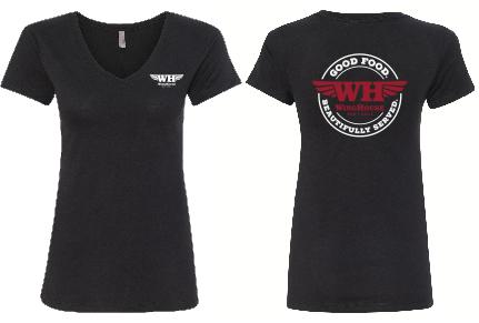 Winghouse logo'd Tshirt women's v neck