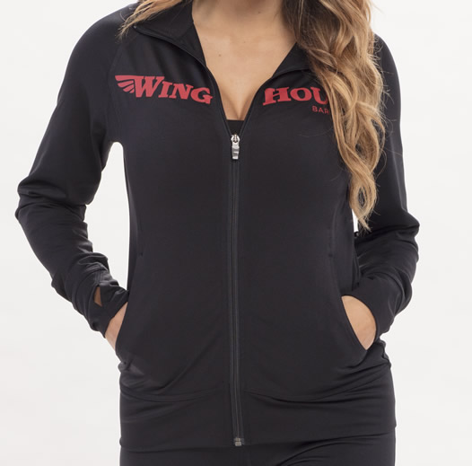 Winghouse logo'd ladies sweat shirt jacket